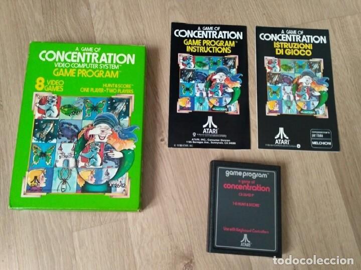 ATARI 2600 JUEGO CONCENTRATION COMPLETO RARO (Juguetes - Videojuegos y Consolas - Atari)
