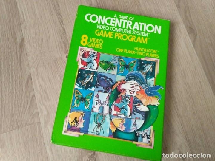 Videojuegos y Consolas: ATARI 2600 JUEGO CONCENTRATION COMPLETO RARO - Foto 2 - 134906026