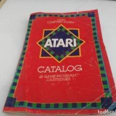 Videojuegos y Consolas: ANTIGUO JUEGO PARA ATARI CATALOGO ANTIGUO. Lote 138119682