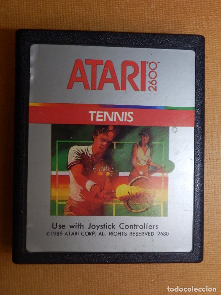 ANTIGUO JUEGO DE CONSOLA PARA ATARI 2600 - TENNIS - 1986 ATARI CORP. (Juguetes - Videojuegos y Consolas - Atari)