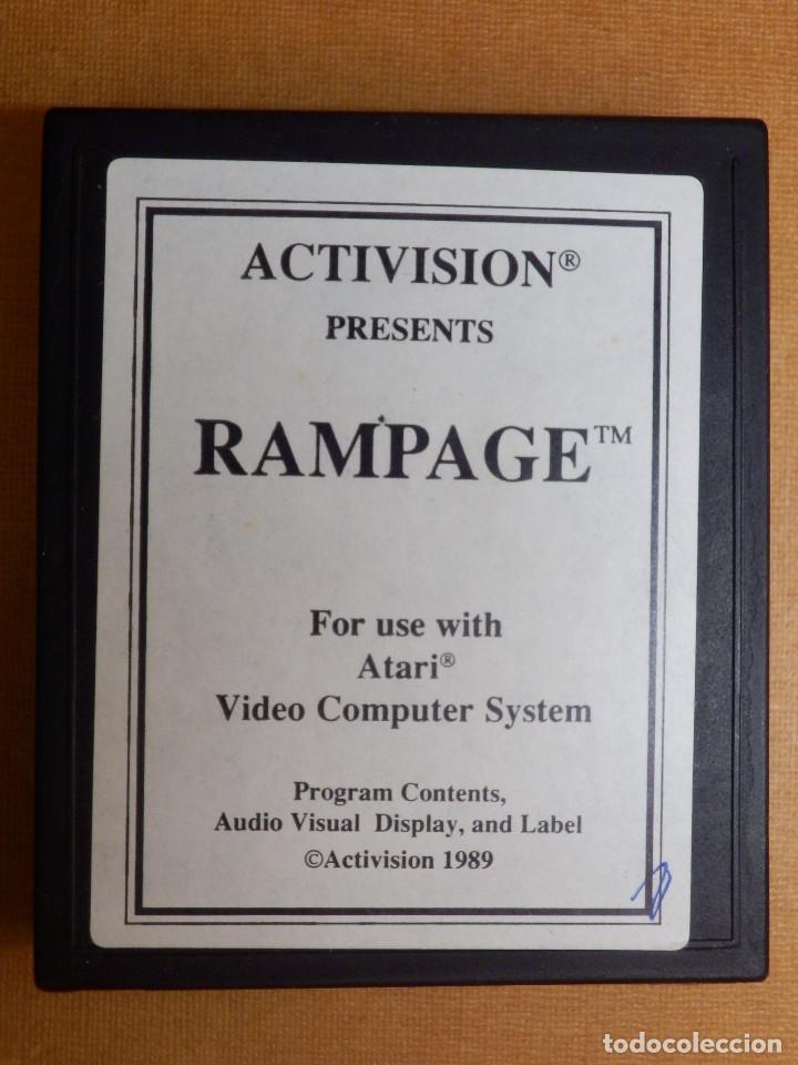 ANTIGUO JUEGO DE CONSOLA PARA ATARI 2600 - RAMPAGE - ACTIVISIÓN 1989 (Juguetes - Videojuegos y Consolas - Atari)