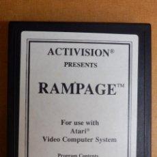 Videojuegos y Consolas: ANTIGUO JUEGO DE CONSOLA PARA ATARI 2600 - RAMPAGE - ACTIVISIÓN 1989 . Lote 138911446