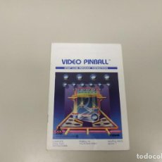 Videojogos e Consolas: 1118- VIDEO PINBALL ATARI CX 2648 GAME INSTRUCTIONS USA 1980. Lote 140165214