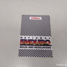 Videojuegos y Consolas: 1118- NATIONAL ENDURO RULES FOR ATARI ACTIVISION 1983 GAME INSTRUCTIONS . Lote 140258390