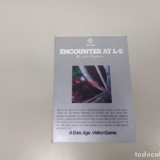 Videojuegos y Consolas: 1118- ENCOUNTER AT L-5 BATTLE ORDERS VIDEO GAME 1982 GAME INSTRUCTIONS . Lote 140289882