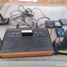 Videojuegos y Consolas: CONSOLA COMPLETA ATARI CON JUEGOS. Lote 140612022