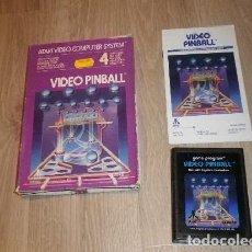 Videojuegos y Consolas: ATARI 2600 JUEGO VIDEO PINBALL COMPLETO. Lote 141138774