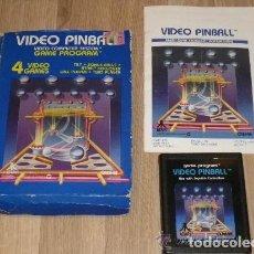 Videojuegos y Consolas: ATARI 2600 JUEGO VIDEO PINBALL COMPLETO. Lote 187415380