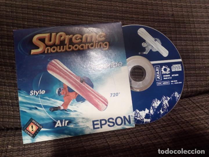 SUPREME SNOWBOARDING ATARI PC CD-ROM .MADE IN E.U. AÑO 1999.EPSON. (Juguetes - Videojuegos y Consolas - Atari)