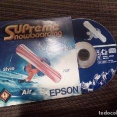 Videojuegos y Consolas: SUPREME SNOWBOARDING ATARI PC CD-ROM .MADE IN E.U. AÑO 1999.EPSON.. Lote 144918038