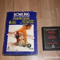 Videojuegos y Consolas: ATARI 266 JUEGO BOWLING 6 VIDEOGAMES EN CAJA. Lote 149575370