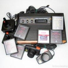 Videojuegos y Consolas: VIDEOCONSOLA ATARI MANDOS Y JUEGOS. Lote 151195674