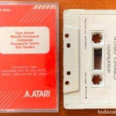 Videojuegos y Consolas: CINTA ATARI COMPILATION TAPE TX 9043 CON 5 JUEGOS.. Lote 154544686
