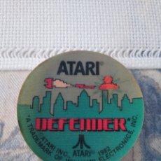 Videojuegos y Consolas: PEGATINA ATARI DEL JUEGO DEFENDER 1982. Lote 155951678