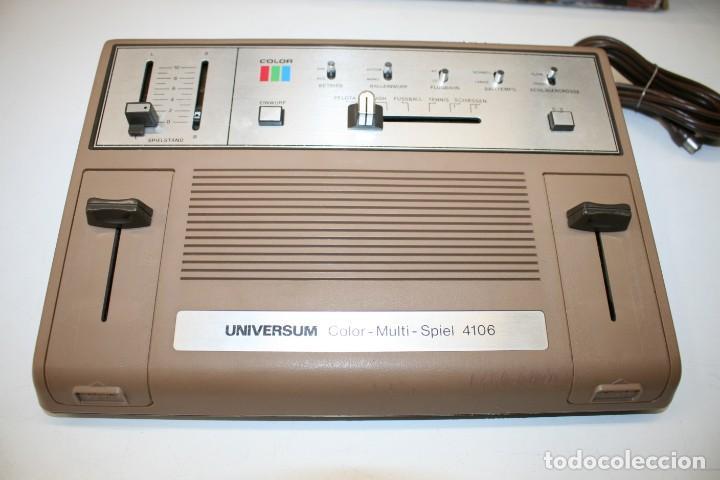 Videojuegos y Consolas: Consola Pong Quelle Universum Color Multispiel 4106 - Foto 12 - 158518082