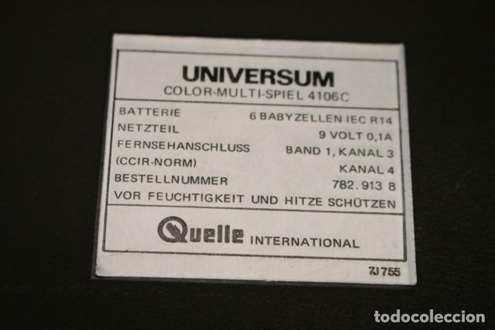 Videojuegos y Consolas: Consola Pong Quelle Universum Color Multispiel 4106 - Foto 17 - 158518082