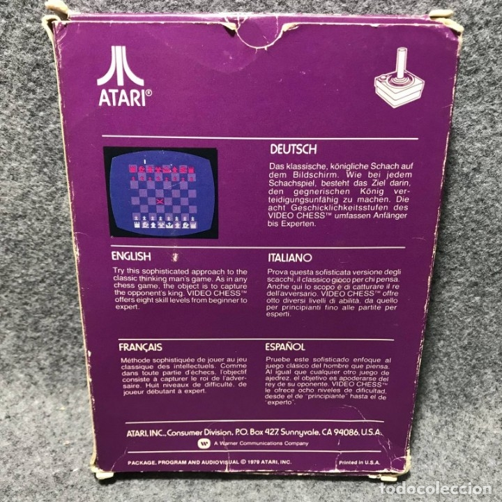 Videojuegos y Consolas: VIDEO CHESS ATARI 2600 - Foto 2 - 158628264