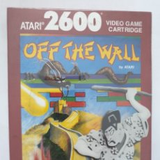 Videojuegos y Consolas: OFF THE WALL. ATARI 2600. Lote 163580318