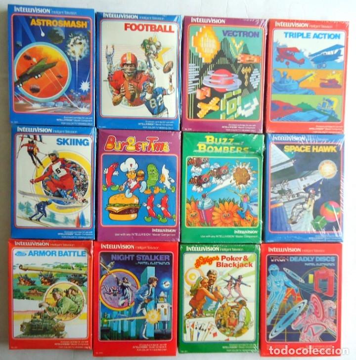 12 JUEGOS DE INTELLIVISION DIFERENTES CAJAS SELLADAS DE FABRICA ENVIO INCLUIDO (Juguetes - Videojuegos y Consolas - Atari)