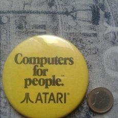 Videojuegos y Consolas: ATARI. RARISIMA GRAN CHAPA DE SOLAPA.. Lote 175829978