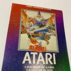 Videojogos e Consolas: CATÁLOGO DE 1982 DE JUEGOS PARA LA CONSOLA ATARI 2600. Lote 176305417