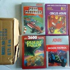 Videojuegos y Consolas: 6 JUEGOS ATARI 2600 SELLADOS CIRCUS SPRINTMASTER MOON PATROL POLE POSITION DESERT FALCON. Lote 176374055