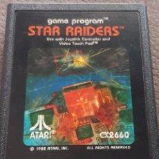 Videojuegos y Consolas: JUEGO STAR RAIDERS 1982 ATARI 2600. Lote 178048427