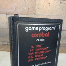 Videojuegos y Consolas: GAME PROGRAM COMBAT JUEGO ATARI CX-2601 VERSION PAL - INCLUYE 5 JUEGOS: TANK, JET-FIGHTER,.... Lote 178239506