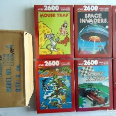 Videojuegos y Consolas: 6 ATARI 2600 GAMES SPACE INVADERS GRAVITAR SPRINTMASTER VENTURE CROSBOW *ENVIO INCLUIDO*. Lote 178873085