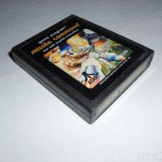 Videojuegos y Consolas: MISSILE COMMAND - ATARI 2600 Y COMPATIBLES - JUEGO EN CARTUCHO ORIGINAL. Lote 183007860