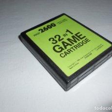 Videojuegos y Consolas: 32 IN 1 - ATARI 2600 Y COMPATIBLES - JUEGO EN CARTUCHO ORIGINAL. Lote 183008403