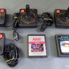 Videojuegos y Consolas: 2 JUEGOS ATARI PHOENIX Y SPACE INVADERS + 4 MANDOS CONSOLA ATARI 2600. Lote 183820568