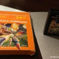 Videojuegos y Consolas: ANTIGUO VIDEOJUEGO MISSILE COMMAND ATARI EN SU CAJA ORIGINAL . Lote 183875060