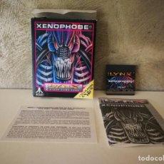 Videojuegos y Consolas: XENOPHOBE ATARI LYNX EN CAJA Y COMPLETO. Lote 184107502