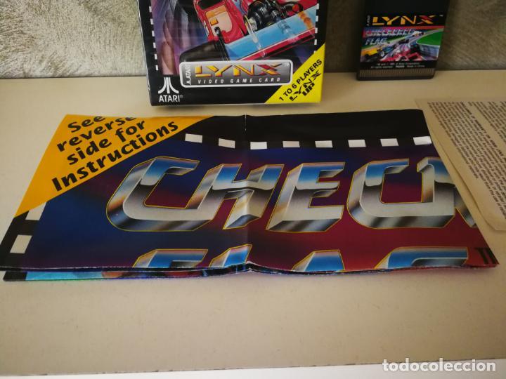Videojuegos y Consolas: CHECKERED FLAG ATARI LYNX EN CAJA Y COMPLETO - Foto 4 - 184108173