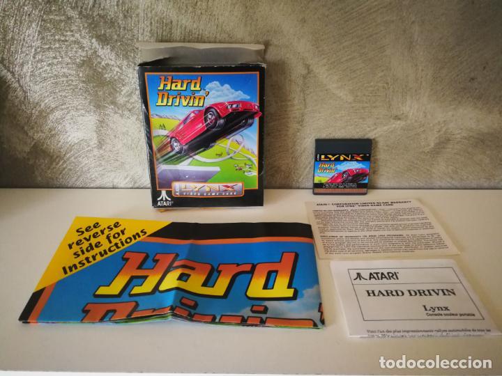 HARD DRIVIN ATARI LYNX EN CAJA Y COMPLETO (Juguetes - Videojuegos y Consolas - Atari)