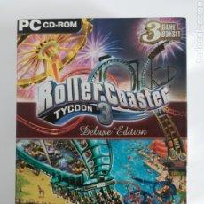 Videojuegos y Consolas: ROLLER COASTER 3 TYCOON DELUXE EDITION - PC ATARI. Lote 188518066