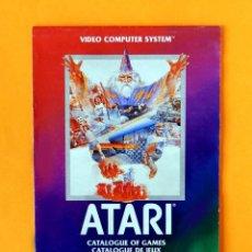 Videojuegos y Consolas: ATARI - CATÁLOGO DE JUEGOS Nº 1 - VIDEO COMPUTER SYSTEM - 1982 - ORIGINAL. Lote 191474235