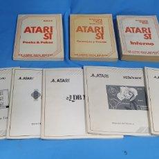 Videojuegos y Consolas: LOTE DE MANUALES PARA ORDENADOR ATARI ST. Lote 194339675