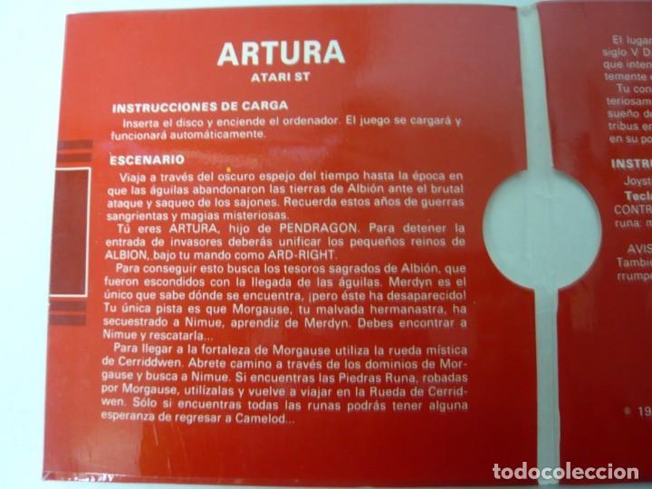 Videojuegos y Consolas: Artura / Sobre Cartón / Atari ST / STE / Retro Vintage / Disco - Disquete - Foto 4 - 197755443