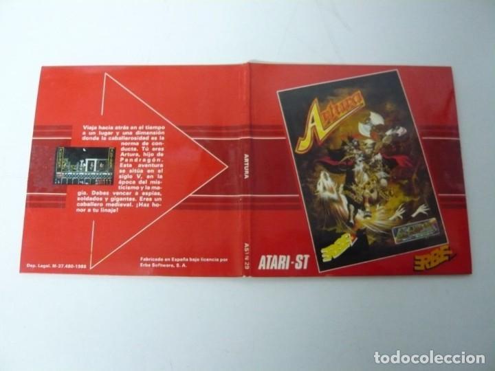 Videojuegos y Consolas: Artura / Sobre Cartón / Atari ST / STE / Retro Vintage / Disco - Disquete - Foto 5 - 197755443