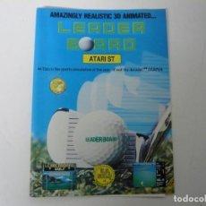 Videojuegos y Consolas: LEADER BOARD / SOBRE CARTÓN / ATARI ST / STE / RETRO VINTAGE / DISCO - DISQUETE. Lote 197755585