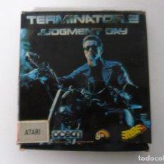 Videojuegos y Consolas: TERMINATOR 2 / CAJA CARTÓN / ATARI ST / STE / RETRO VINTAGE / DISCO - DISQUETE. Lote 197756107