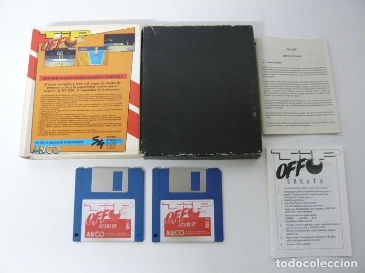 Videojuegos y Consolas: Tip Off / Caja Cartón / Atari ST / STE / Retro Vintage / Disco - Disquete - Foto 2 - 197756152