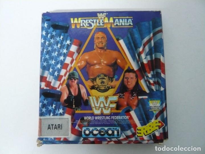 WWF WRESTE MANIA / CAJA CARTÓN / ATARI ST / STE / RETRO VINTAGE / DISCO - DISQUETE (Juguetes - Videojuegos y Consolas - Atari)