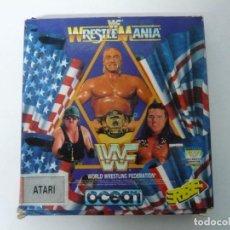 Videojuegos y Consolas: WWF WRESTE MANIA / CAJA CARTÓN / ATARI ST / STE / RETRO VINTAGE / DISCO - DISQUETE. Lote 197756205
