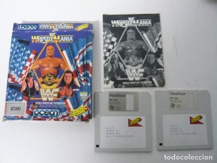 Videojuegos y Consolas: WWF Wreste Mania / Caja Cartón / Atari ST / STE / Retro Vintage / Disco - Disquete - Foto 3 - 197756205