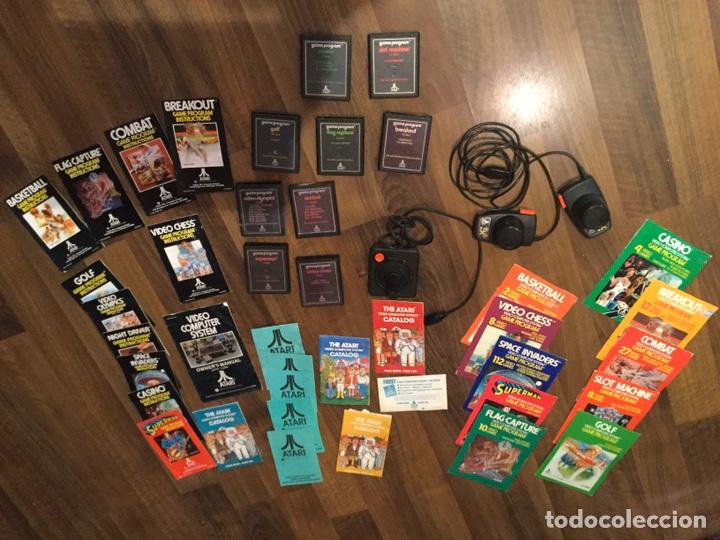 LOTE ATARÍ VÍDEO COMPUTER SYSTEM - 9 JUEGOS + LIBROS DE INSTRUCCIONES VARIOS Y ACCESORIOS (Juguetes - Videojuegos y Consolas - Atari)