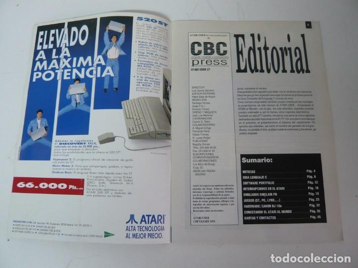 Videojuegos y Consolas: Atari USER, año III, nº 27, 1991 - Atari ST / STE - Revista informática - Foto 3 - 199692091