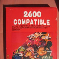 Videojuegos y Consolas: 2600 COMPATIBLE , JUEGO PARA CONSOLA ATARI MOTOR RACE , MISSILE SNOOPY , CARNIVAL ETC. Lote 199773148